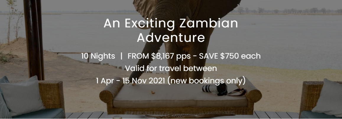 An exciting Zambian adventure - 10-nights