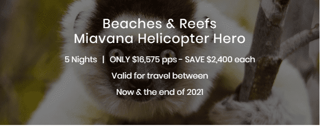 Beaches and Reef Miavana Helicopter Hero