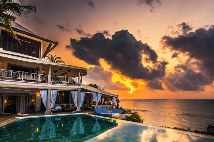 Beautiful sunsets at Alfajiri Beach Villa