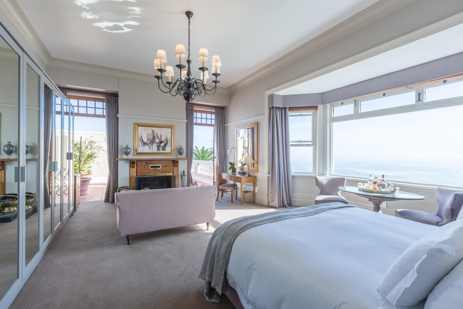 Bedroom with great seaviews at Ellerman House