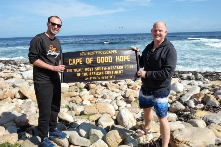 Clyde Beaty and Rob Morley the Tailormade Africa Directors at Cape of Good Hope Cape Town