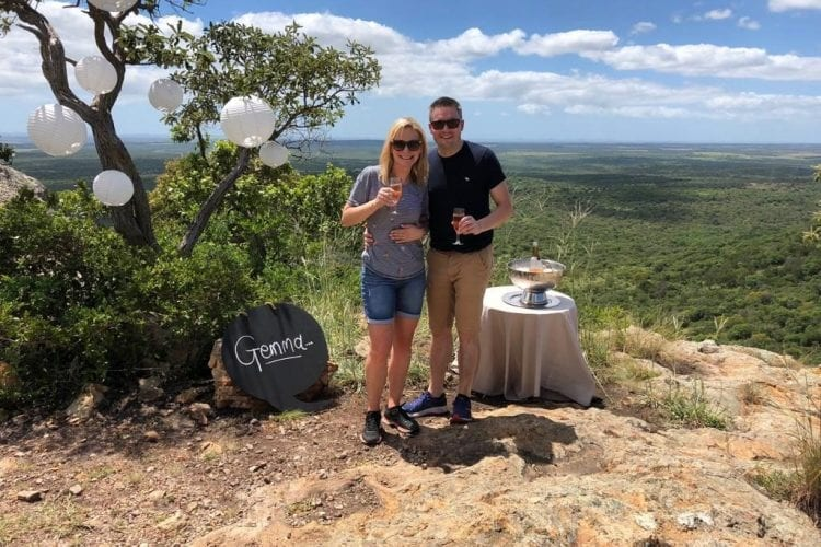 Gemma and Bens Engagement at Phinda Mountain Lodge