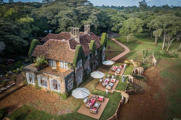 Giraffe Manor Nairobi Kenya Aerial View