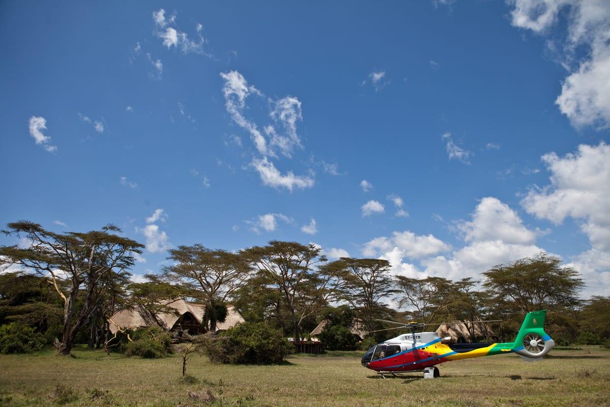 Helicopter safari solio lodge