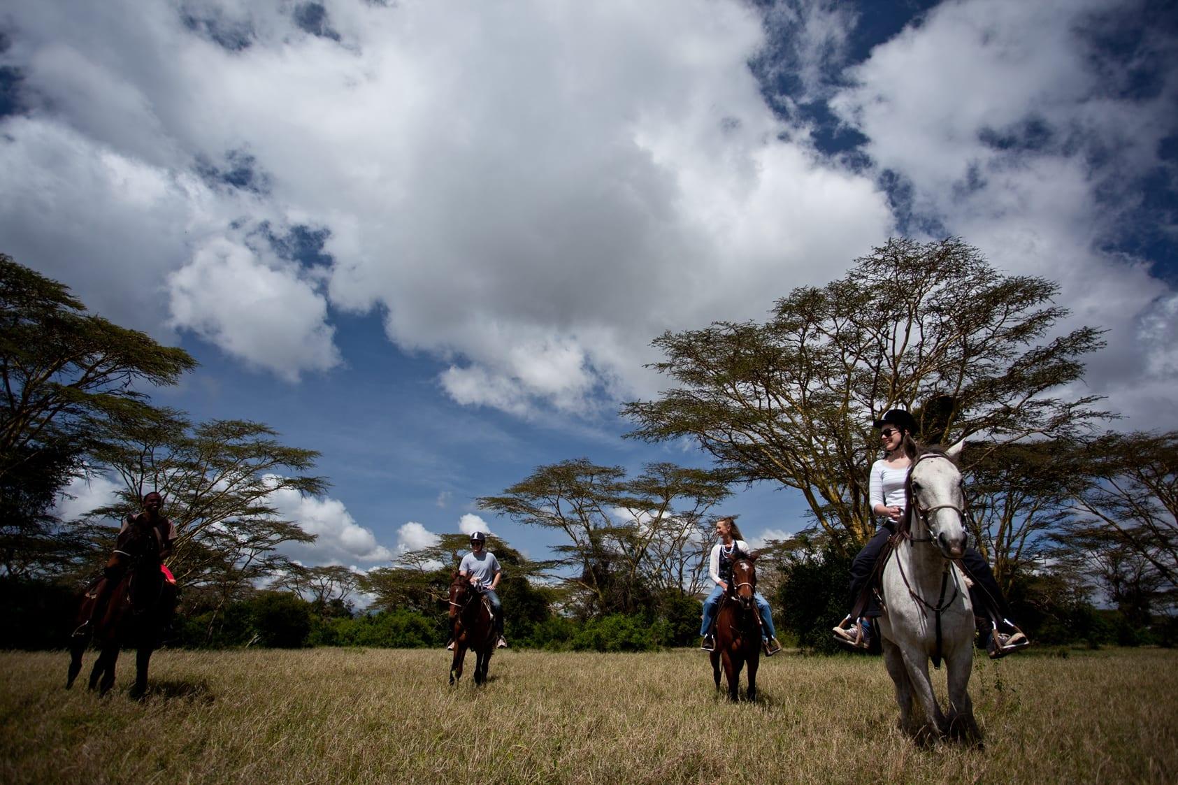 Horseback Safari at Solio Lodge