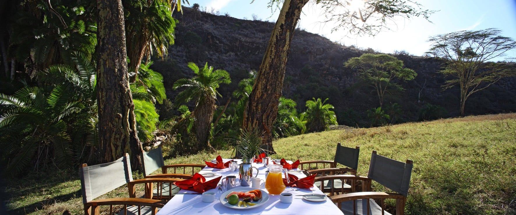 Lewa Safari Camp - Bush Breakfast1