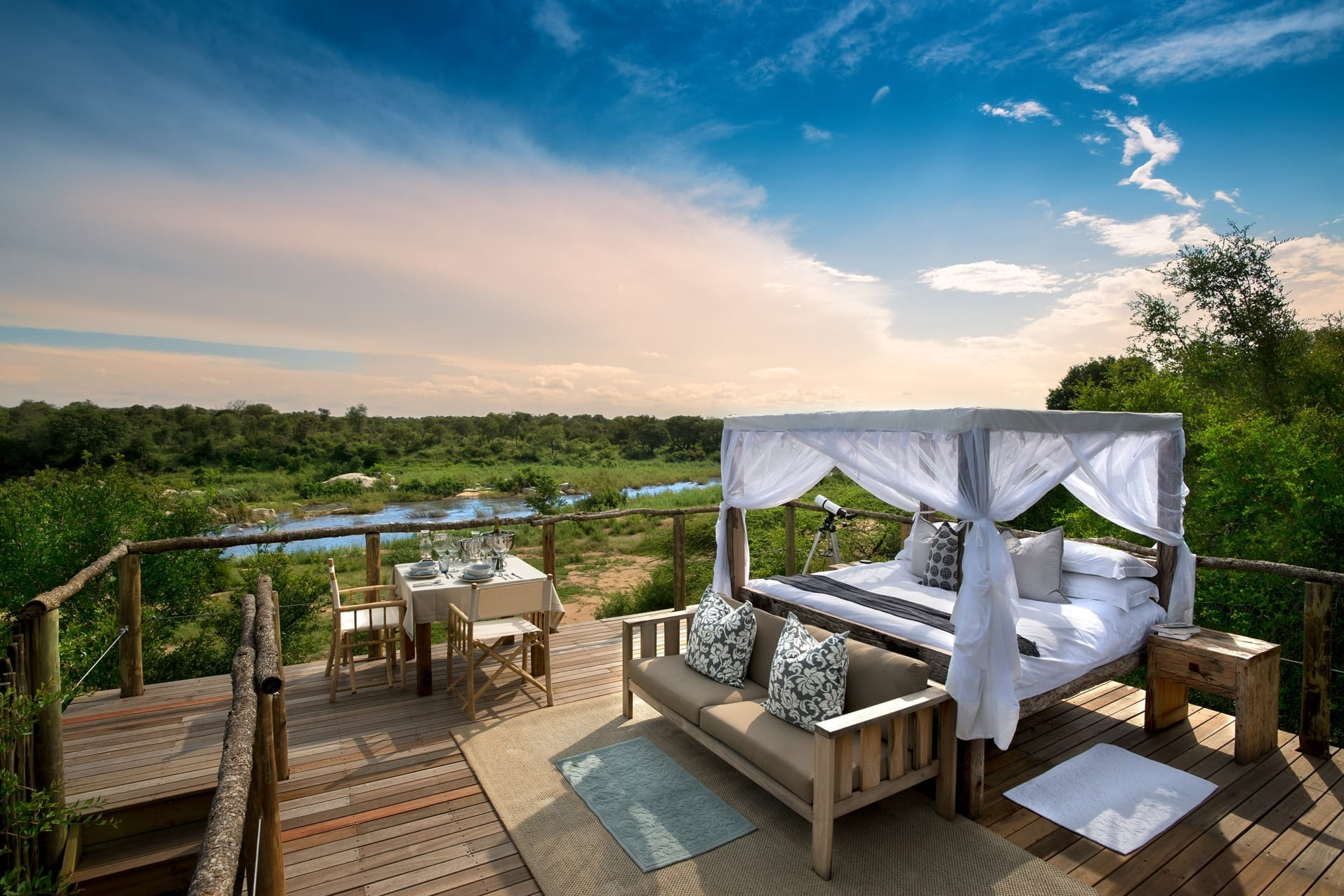 Lion Sands South Africa Tinyeleti Treehouse Star Beds