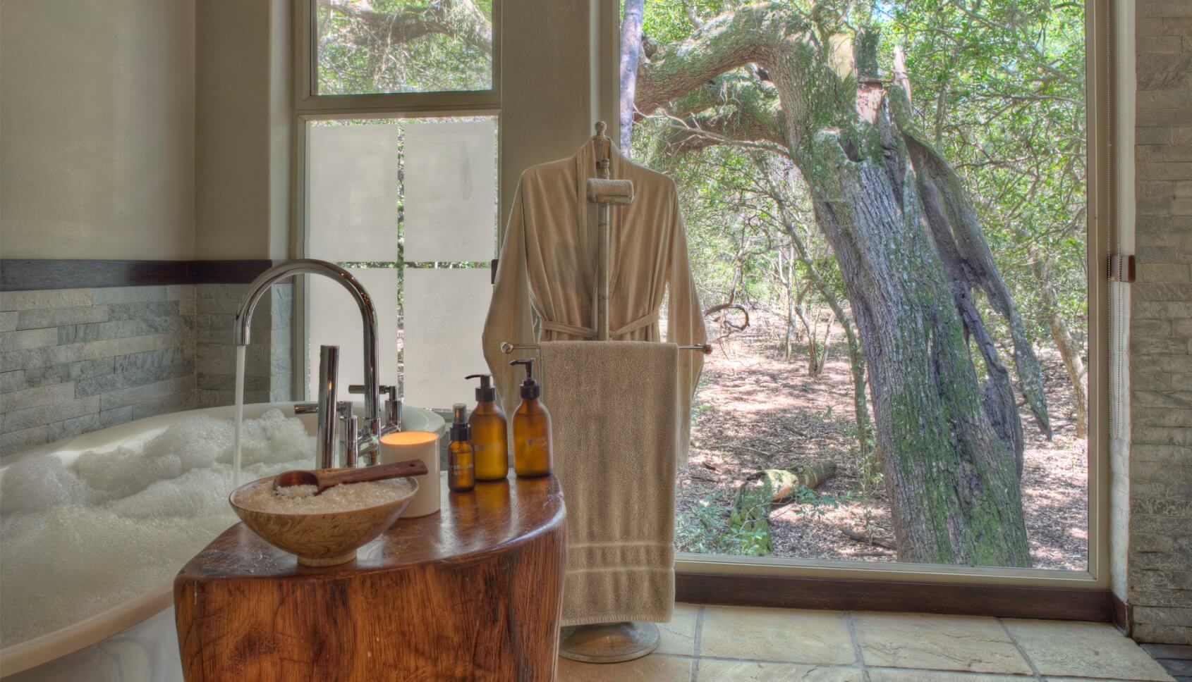 Lodge Bathroom at Phinda Forest