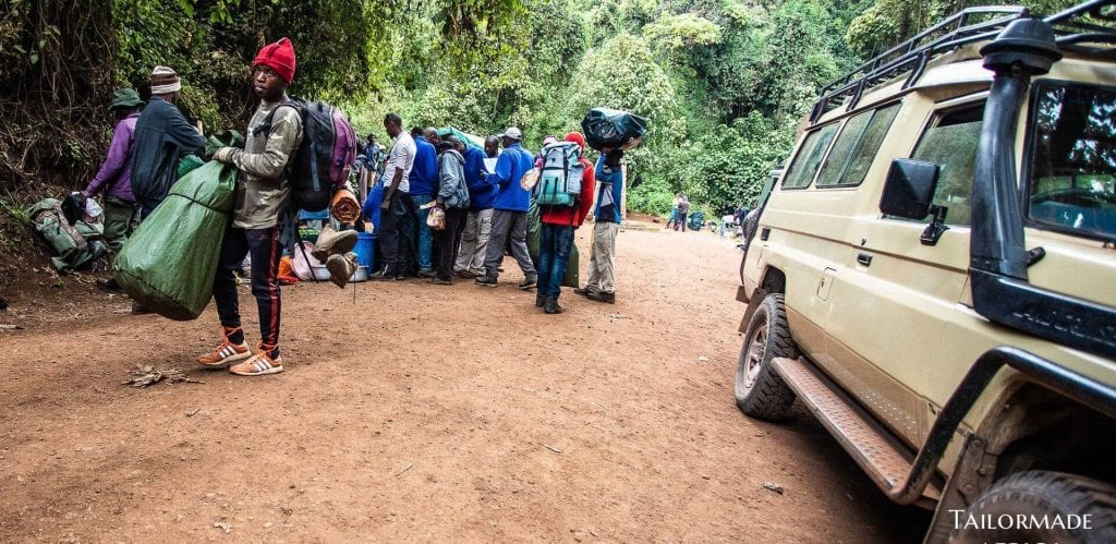 Catering and service on a Mount Kilimanjaro climb