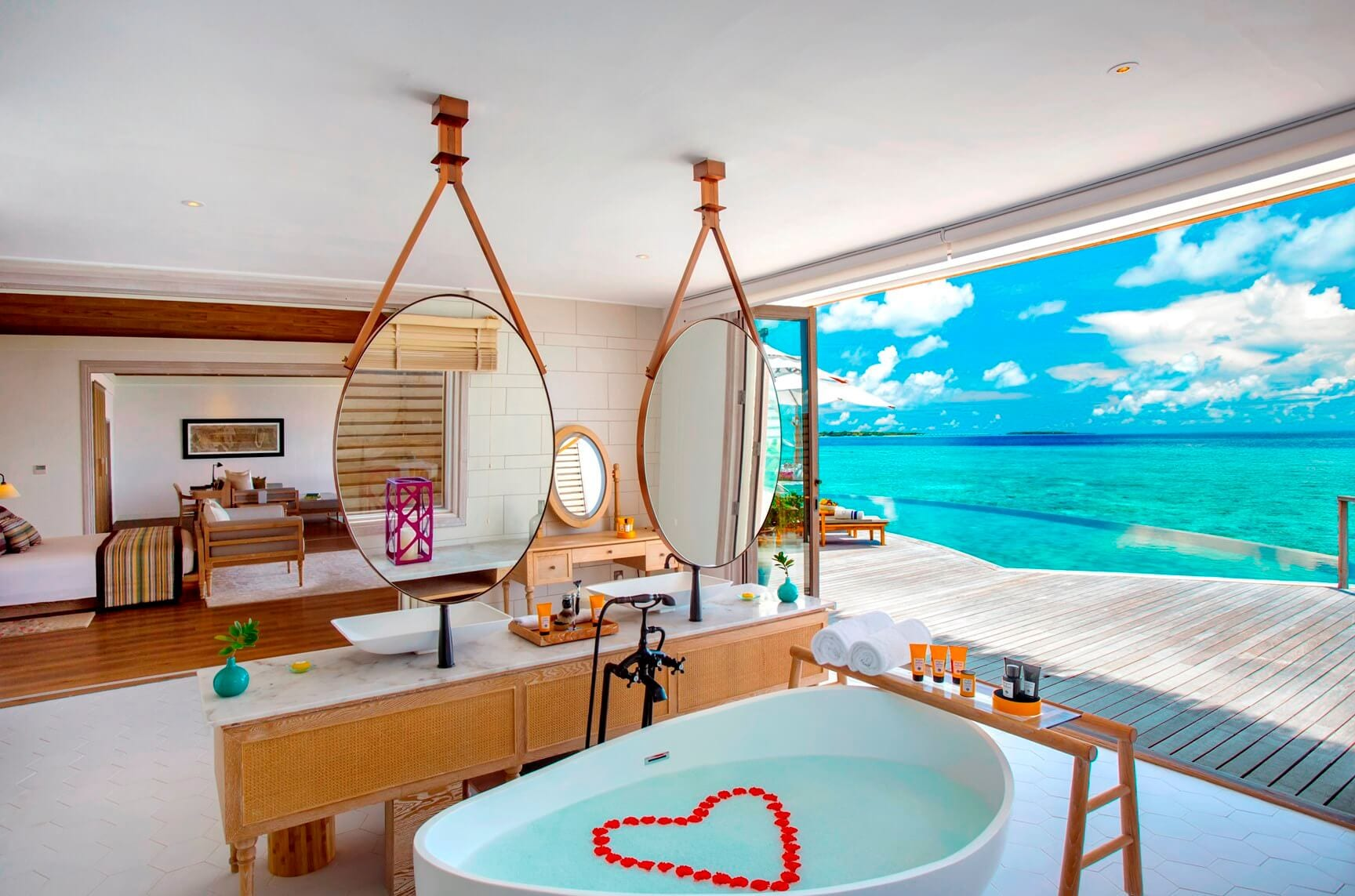 Ocean Residence romantic bath with a view