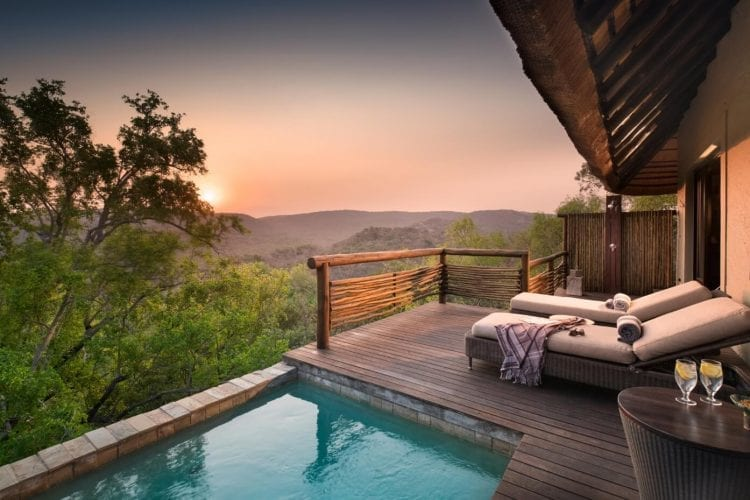 Phinda Mountain Suite outside pool