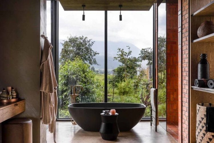 Singita Kwitonda Lodge Guest Bathroom View