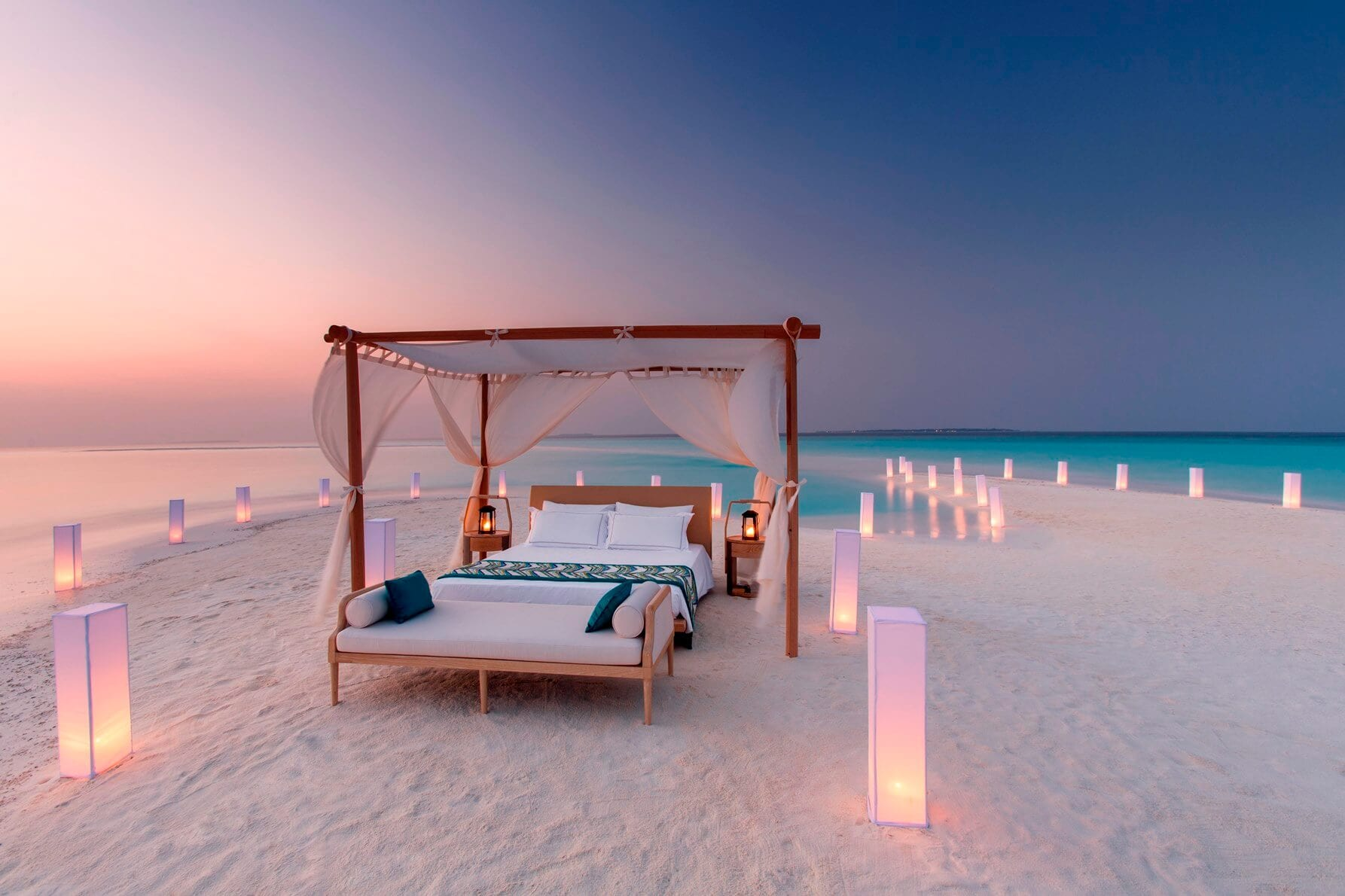 Sleeping under the stars at Milaidhoo Maldives