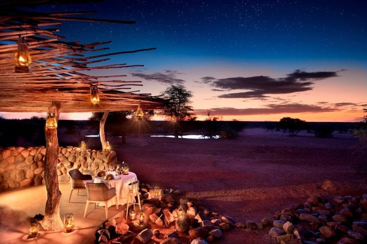 Sunset at Motse Main Lodge - Tswalu Kalahari