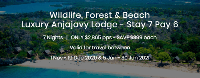 Wildlife Forest and Beach Luxury Anjajavy Lodge