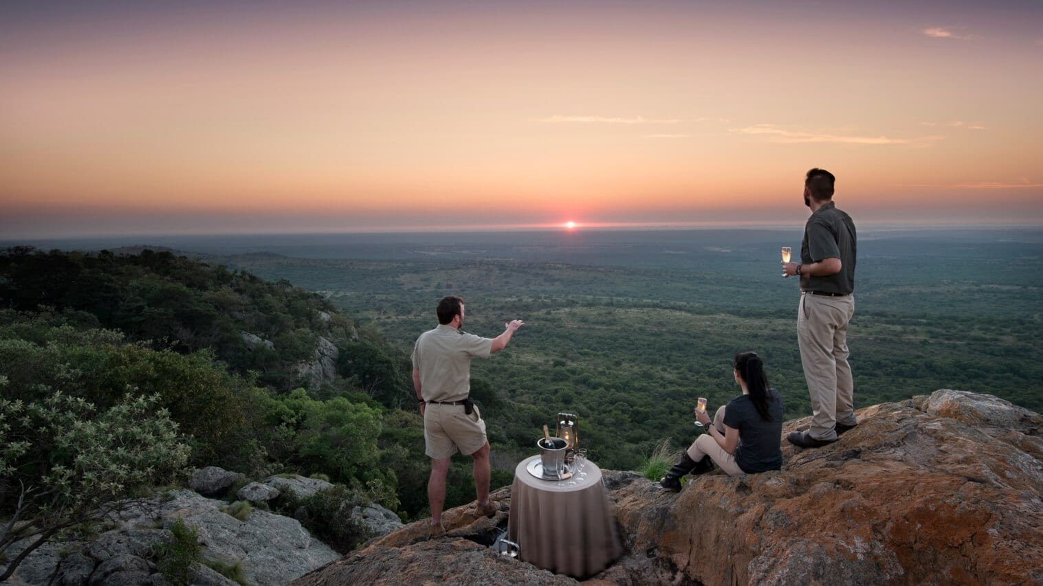 Romantic Bush Dinner and sunset drinks at Phinda Vlei