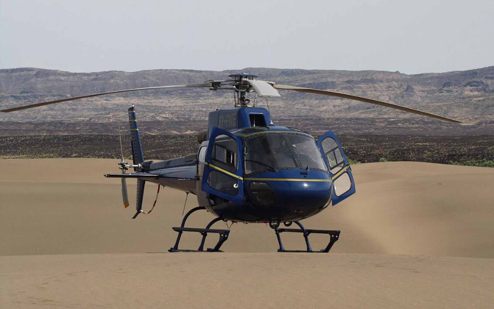 Helicopter Safaris at Sasaab Lodge