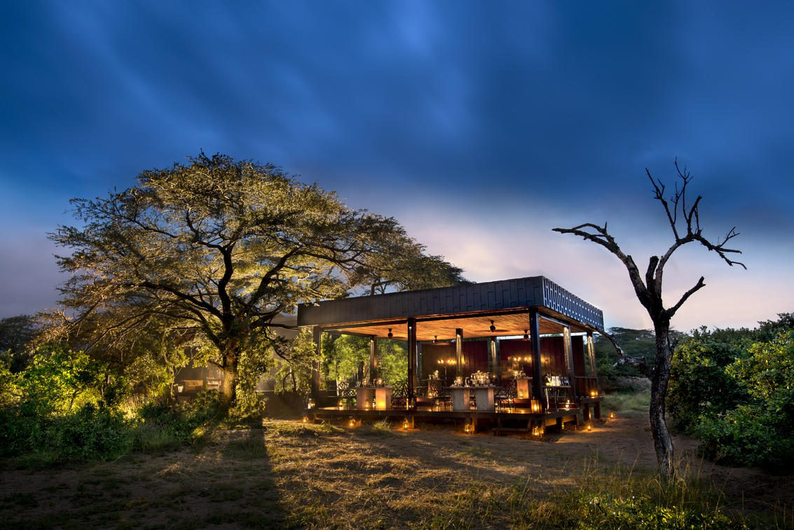 Phinda Vlei Guest Area at night