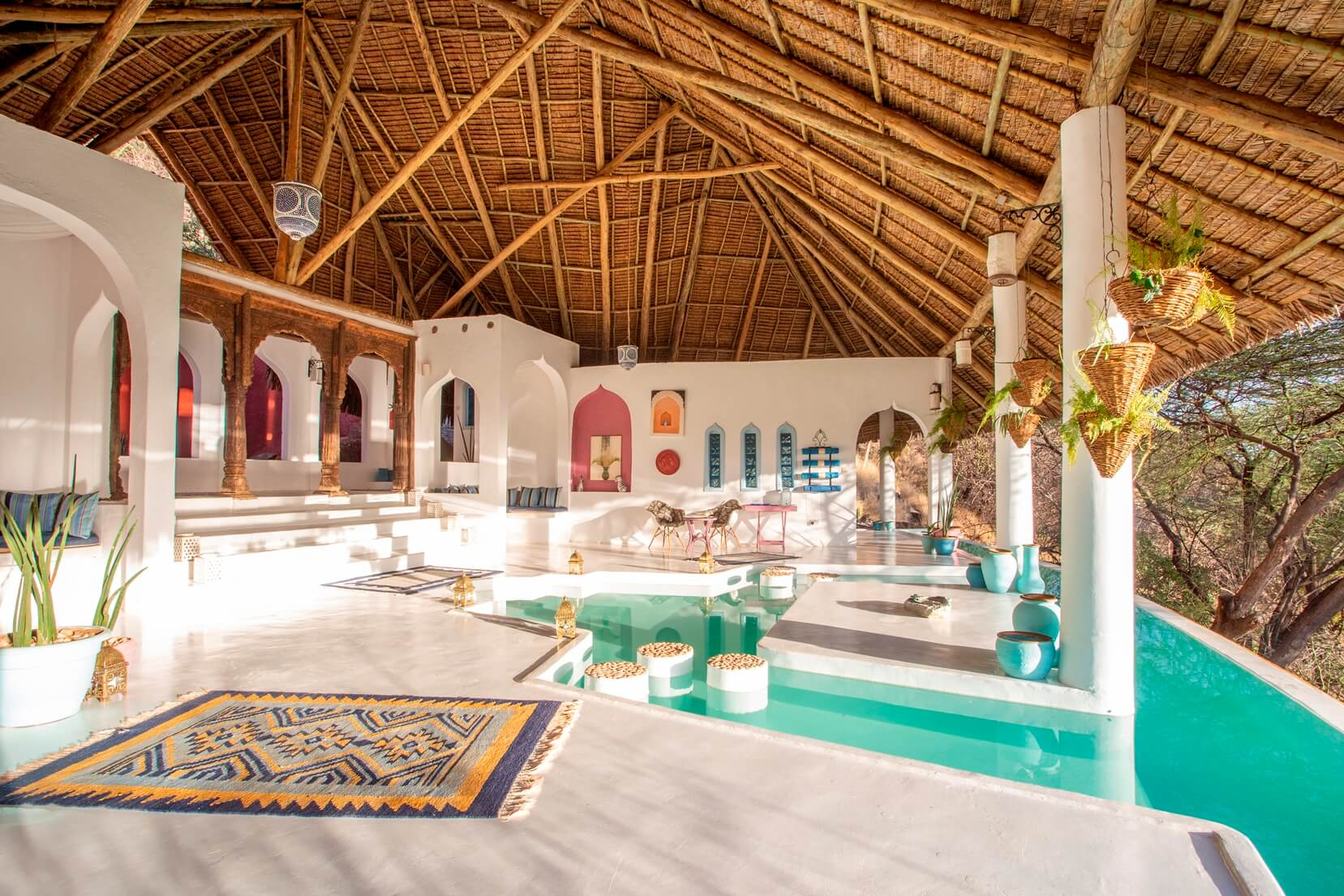Moroccan style influence at Sasaab Lodge